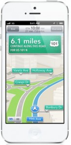 iPhone 5 with Maps
